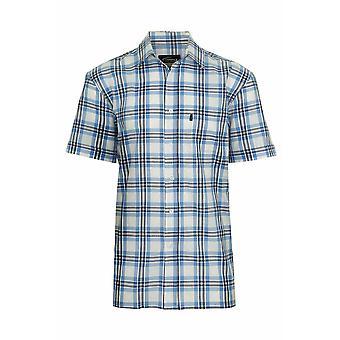 Mens Champion Land Stil hochwertiger Casual Check kurzen Ärmeln Baumwollhemd