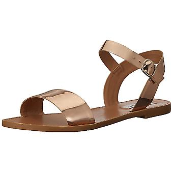 Steve Madden Womens DONDDI Leather Open Toe Casual Slide Sandals
