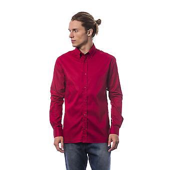 Męskie czerwone koszulki z długim rękawem Roberto Cavalli