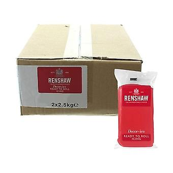 Renshaw Poppy Red 2.5kg Ready To Roll Fondant Icing Sugarpaste