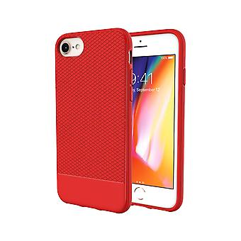 Para iPhone 8,7,6 y 6S caso, rojo Snap Armor Shock Proof Light Slim Phone Cover