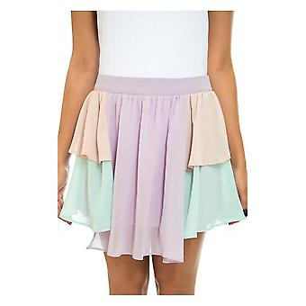 coloured Layered Chiffon Skirt
