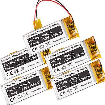 5-Pack Battery for Apple iPod Nano 6th 6 Gen 8GB 16GB 616-0531 A1366 MC525LL/A