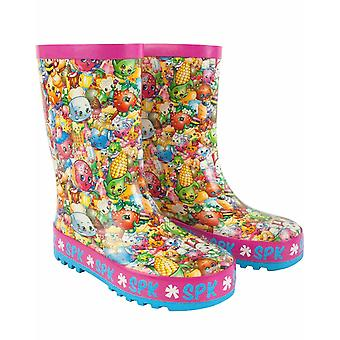 Shopkins All Over Print Girl's Kids Multicoloured Wellies