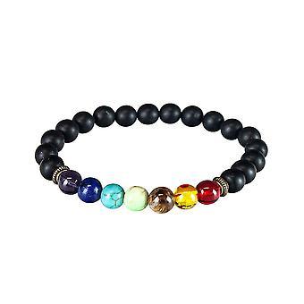 Bracelet de chakra avec des perles noires