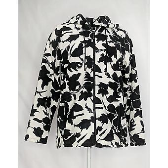 Susan Graver Femmes apos;s Imprimé Polar Fleece Zip- Veste avant Ivoire A372462