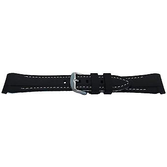 Rubber watch strap for rolex gmt oyster & omega seamaster black/white stitched 20mm