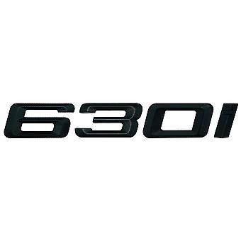 Matt Black BMW 630i Auton Badge Tunnus Mallinumerot Kirjaimet 6-sarjan E63. E64 F06 F12 F13 G32