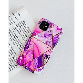 Mobile shell for iPhone XR with pink marble pattern