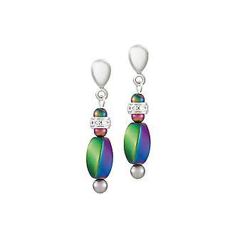 Eternal Collection Inspiratie Rainbow Hematite Drop Screw Back Clip Op Oorbellen