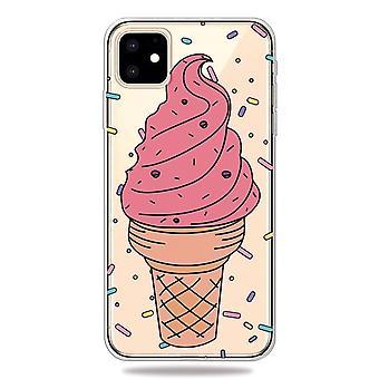 Rosa glass- skal för iPhone 11