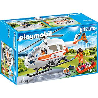 Playmobil 70048 City Life Rescue Helicopter 38PC Playset