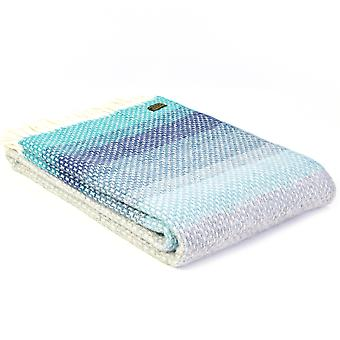 Tweedmill Pure New Wool Ombre Seaside Blue Throw