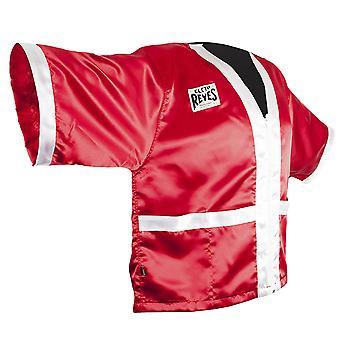 Cleto Reyes Corner Staff Satin Boxing Robe - Red/White