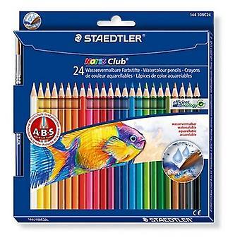 Staedtler Noris Club aquarell - set 24 pc. + brush 144010NC24