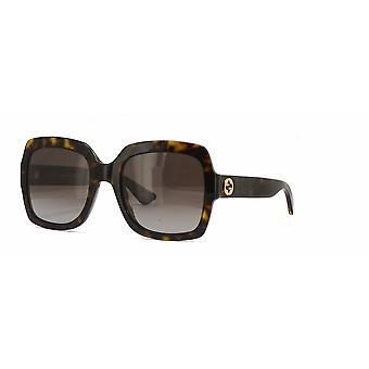 Gucci GG0036S 012 Dunkle Havanna/Polarisierte braune Farbverlauf Sonnenbrille