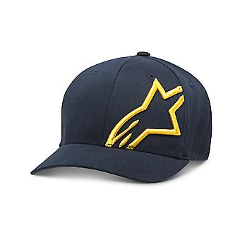 Alpinestars Corp Shift 2 Curved Brim Cap in Navy/Gold