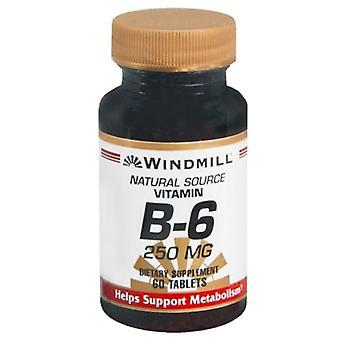 Windmill vitamin b-6, 250 mg, tablets, 60 ea