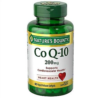 Nature's bounty coq-10, 200 mg, rapid release softgels, 45 ea