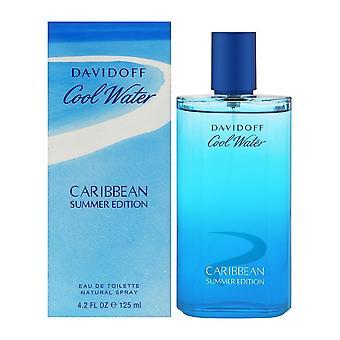 Édition d'été de l'eau froide des Caraïbes par davidoff pour les hommes 4,2 oz eau de toilette spray