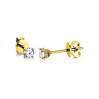 Boucles d'oreilles en goujon de diamant - 14K 585/- Or Jaune - 0,25 ct. - 2A997G4-4