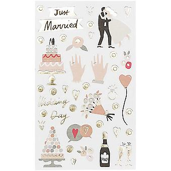 Just Married Wedding Day Stickers x 150 - Crafts - Scrapbooking