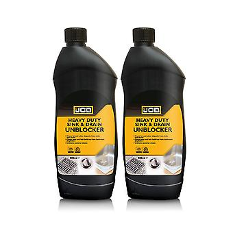 Gootsteen en afvoer unblocker JCB Heavy Duty Instant Power, 2 x 500ml