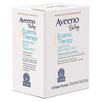 Aveeno baby eczema therapy, soothing bath treatment with oatmeal, 10 ea