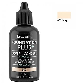 Gosh Foundation Plus + Spf 15 Fildişi 30 ml