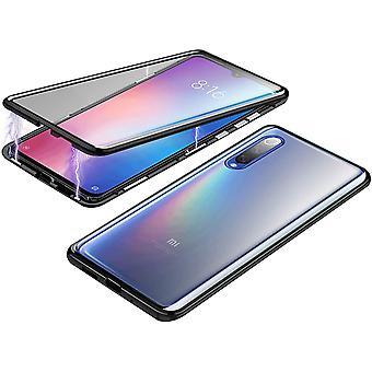 Mobiles Gehäuse mit doppelseitigem gehärtetem Glas - XiaoMi Mi 9 - Schwarz