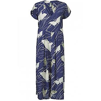 Masai Clothing Nasira Blue Butterfly Print Jumpsuit