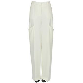 Jacquemus Ezgl240013 Women's White Viscose Pants