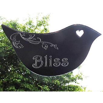 Floral Dove Acrylic Mirror Door or Wall Sign - BLISS