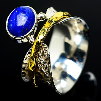 Lapis Lazuli Copper Ring Size 6.75 (925 Sterling Silver)  - Handmade Boho Vintage Jewelry RING7637