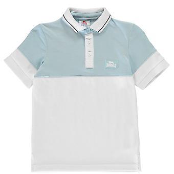 Lonsdale Kinder CS Jersey Polo Shirt Classic Fit Kragen Kurzarm 3 Knöpfe Top