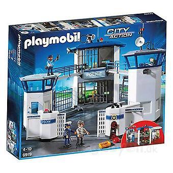 Playset City Action Posterunek Policji z więzieniem Playmobil 6919
