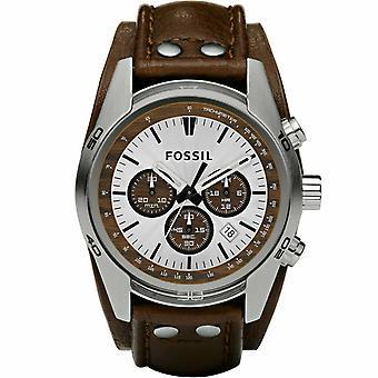 Fossil CH2565 Coachman Chronograph Cuff In pelle Uomini's Orologio