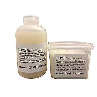 Davines Love Curl Enhancing Shampoo and Conditioner 8.45 OZ Set