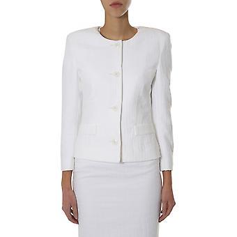Boutique Moschino 051311190001 Damen's Weiße Baumwolle Blazer