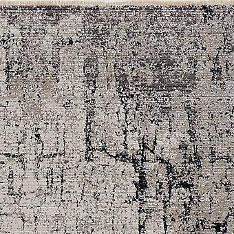 4'x6' Ivory Grey Machine Woven Shrank Abstract Industrial Style Indoor Area Rug