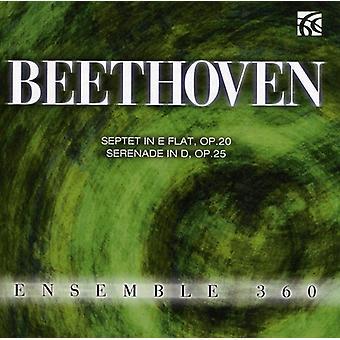 L.V. Beethoven - Beethoven: Septett i E Flat, Op. 20; Serenad i D, Op. 25 [CD] USA import