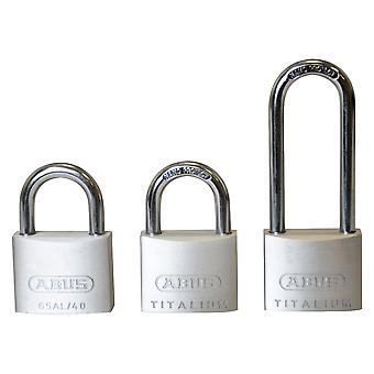 ABUS 64TI/40mm TITALIUM Padlock Triple Pack (1 Long Shackle) ABU64TI4063T