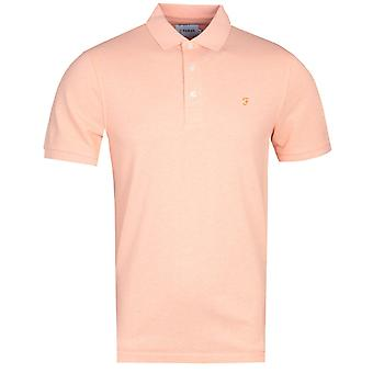 Farah Blanes Basic Berlin Abrikoos Marl Pique Polo Shirt