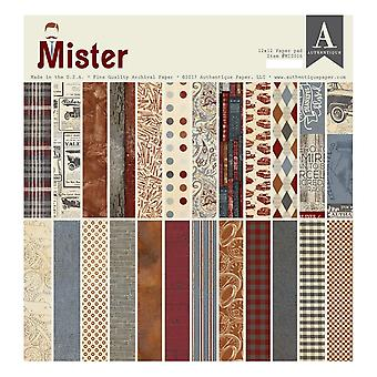 Authentique Mister 12x12 Inch Paper Pad
