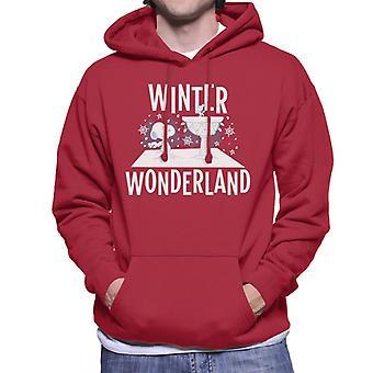 Orzeszki ziemne Snoopy Woodstock Winter Wonderland Męska bluza z kapturem