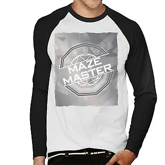 The Crystal Maze Silver Tone Men's Baseball Long Sleeved T-Shirt