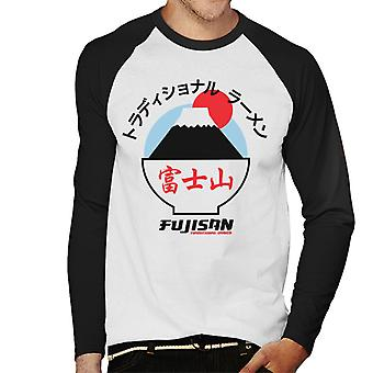The Ramen Clothing Company Fujisan Traditional Ramen Black Text Men's Baseball Long Sleeved T-Shirt
