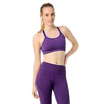 Jerf Womens Bauru Purple Melange Naadloze Sport Beha
