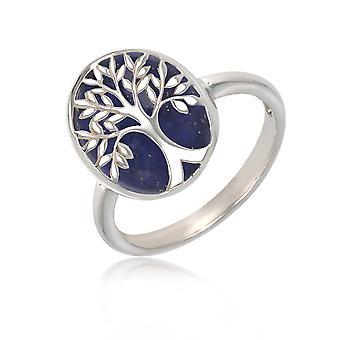 ADEN 925 Sterling Silber Nachahmung Baum des Lebens Ring (ID 4295)