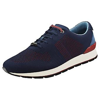 Ted Baker Hillron Text Am Mens Casual Trainers in Dark Blue